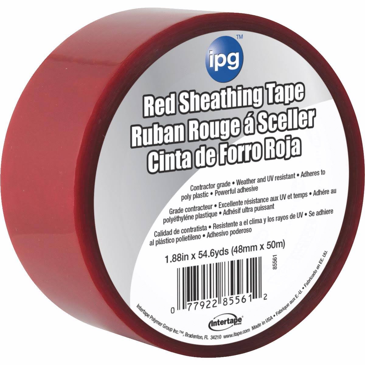 "Intertape Polymer Red Sheathing Tape - 1.89"" x 55yds"