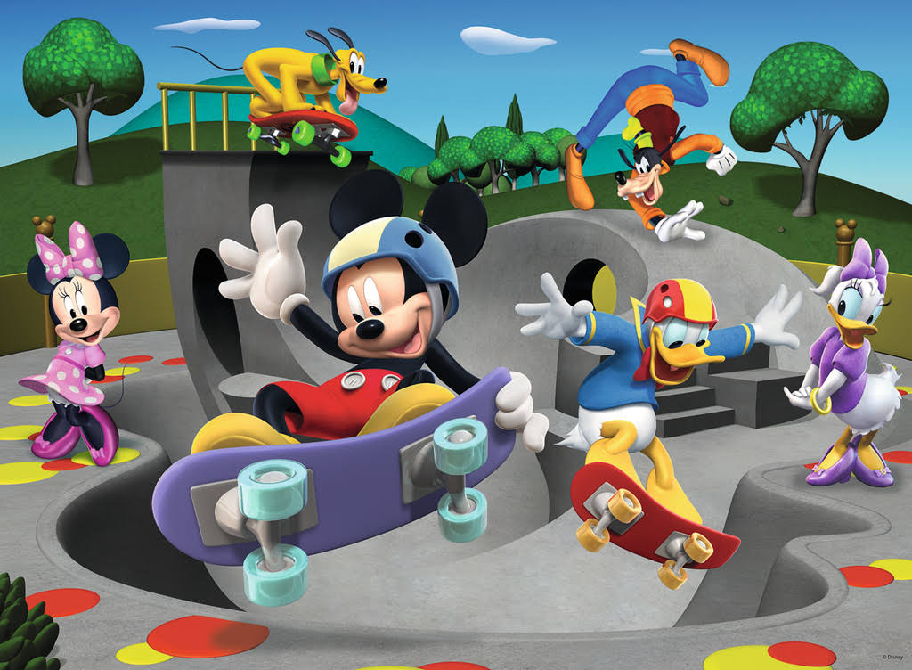 Ravensburger 10923 Disney Mickey Mouse At the Skatepark Puzzle