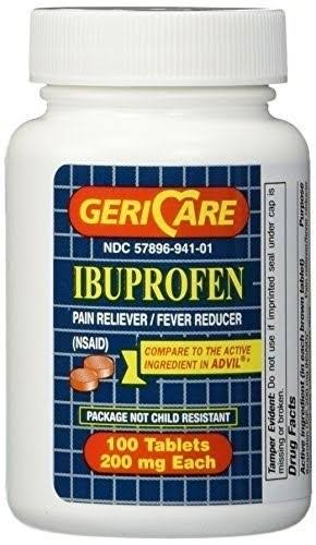 Ibuprofen Pain Relief Tablets - 200mg, 100 Count