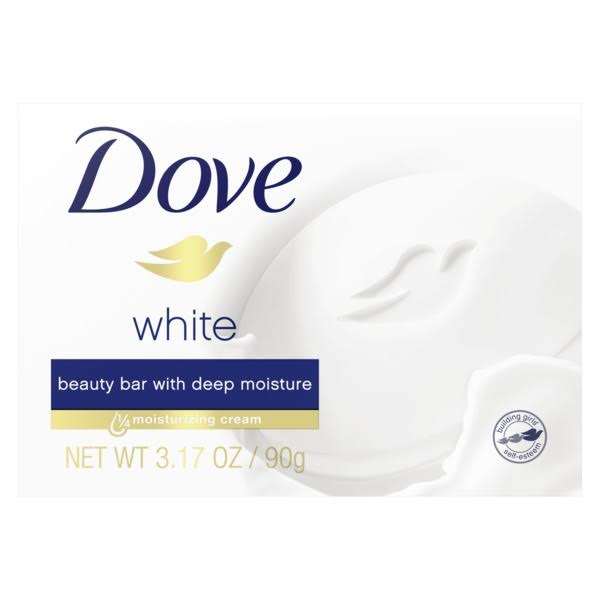 Dove White Beauty Bar Soap - Travel Size, 2.6oz, with Moisturizing Lotion