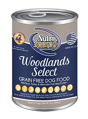 NutriSource Woodlands Select Grain Free Dog Food 13 oz