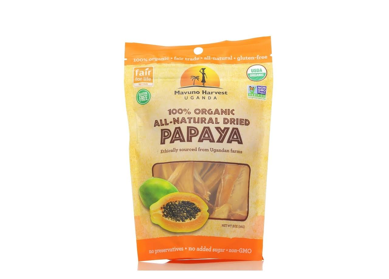 Mavuno Harvest Organic Dried Papaya - 57g