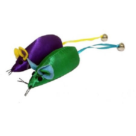Multipet Mouse With Bell Catnip Toy - 3.75""