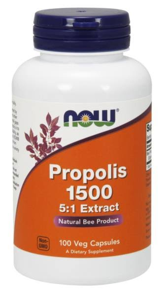 Now Foods Propolis 1500 Dietary Supplement - 100 Capsules