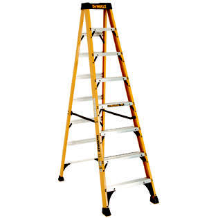 DeWalt Fiberglass Step Ladder - 8', 300lbs