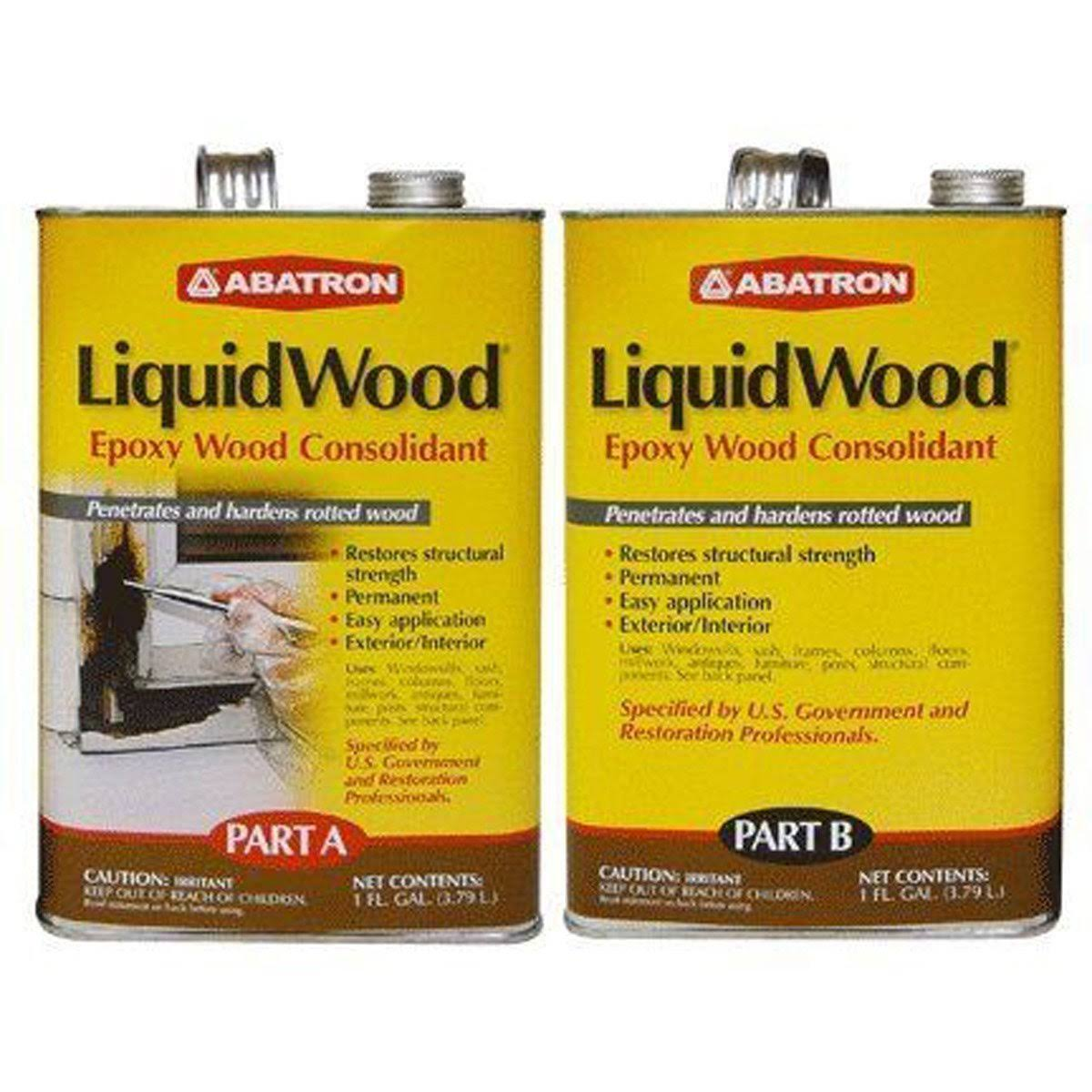 Abatron Liquidwood Epoxy Wood Consolidant Part A & Part B
