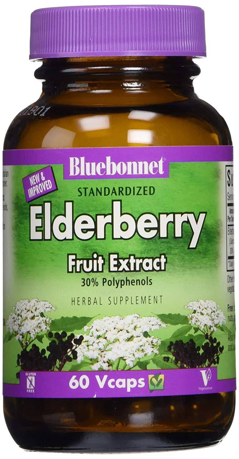 Bluebonnet Elderberry Fruit Extract Herbal Supplement - 60ct