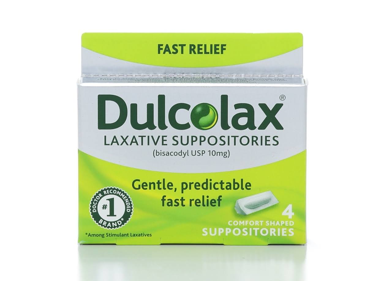 Dulcolax Medicated Laxative Suppositories - 4ct