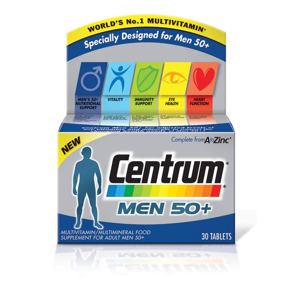 Centrum Men 50+ Multivitamin Tablets - x30
