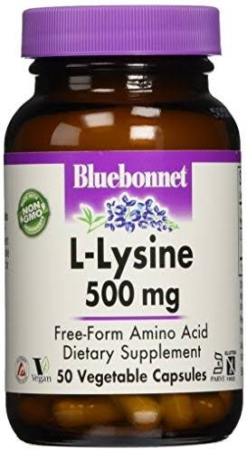 Bluebonnet L-Lysine Dietary Supplement - 50 Capsules