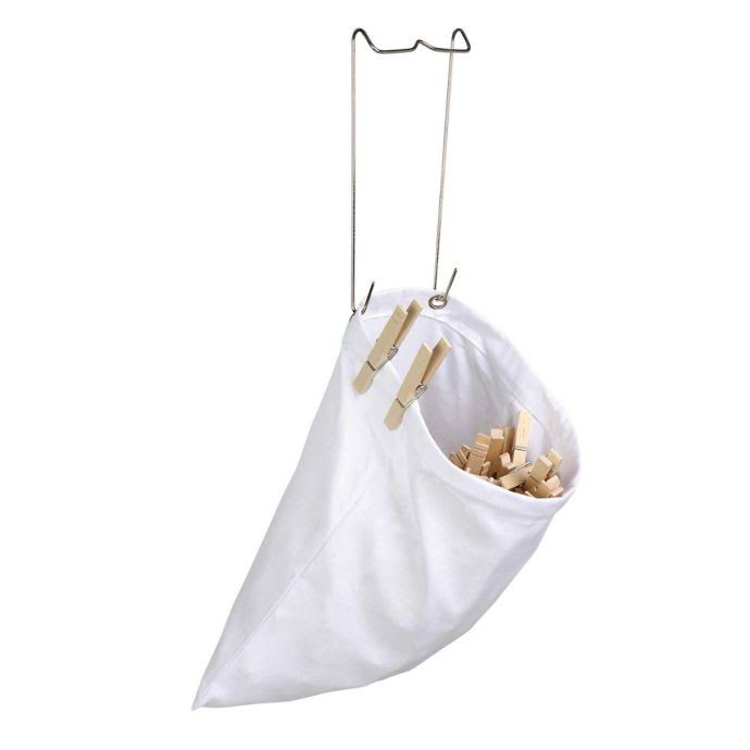 Honey Can Do DY01313 Clothespin Bag - with Hanging Steel Hook