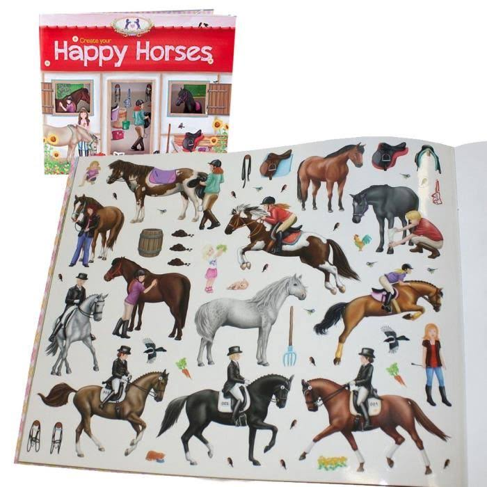 Create your Happy Horses Stickers Book