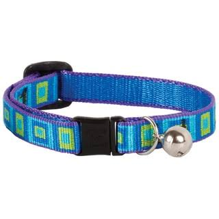 "Lupine Adjustable Sea Glass Design Safety Cat Collar - with Bell, 8"" to 12"""