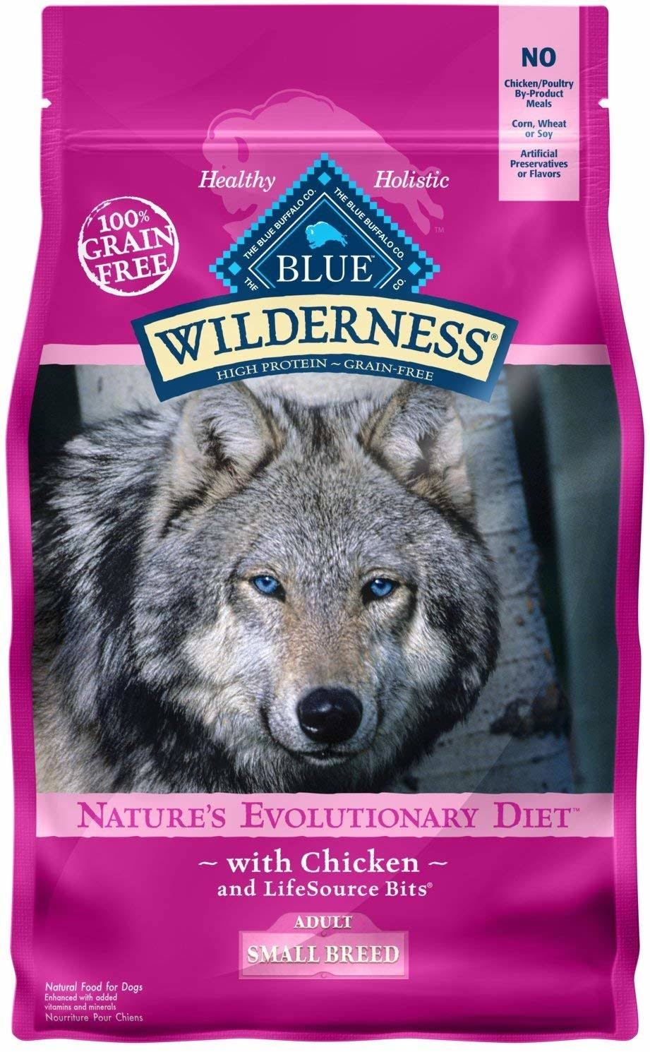 Blue Buffalo Wilderness Dry Adult Dog Food - Small Breed, Chicken Formula