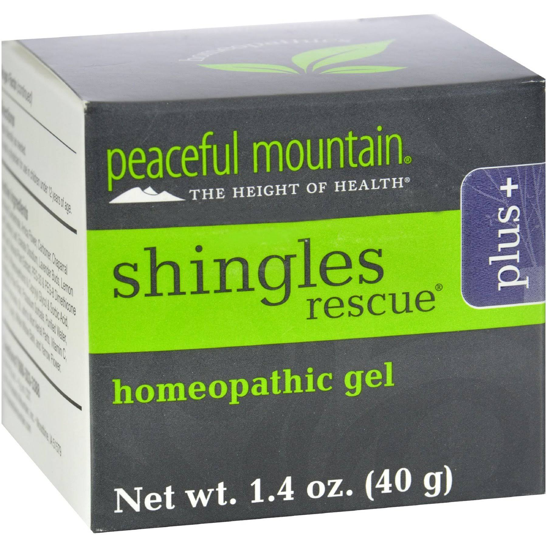 Peaceful Mountain Shingles Rescue Plus Extra Strength Homeopathic Gel - 1.4oz