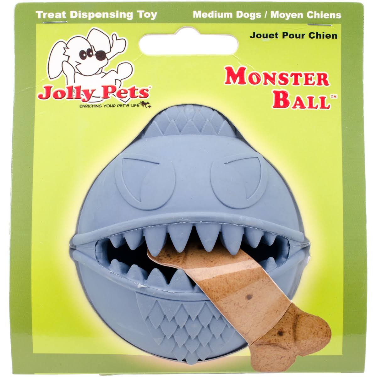 Jolly Pets Monster Ball - Blue, 3.5''