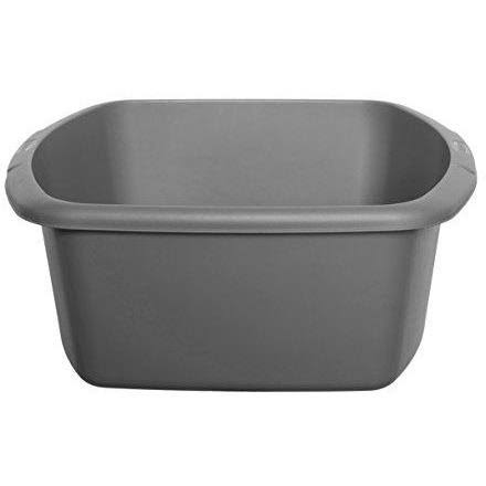 Whitefurze Large Rectangular Washing Up Bowl Silver
