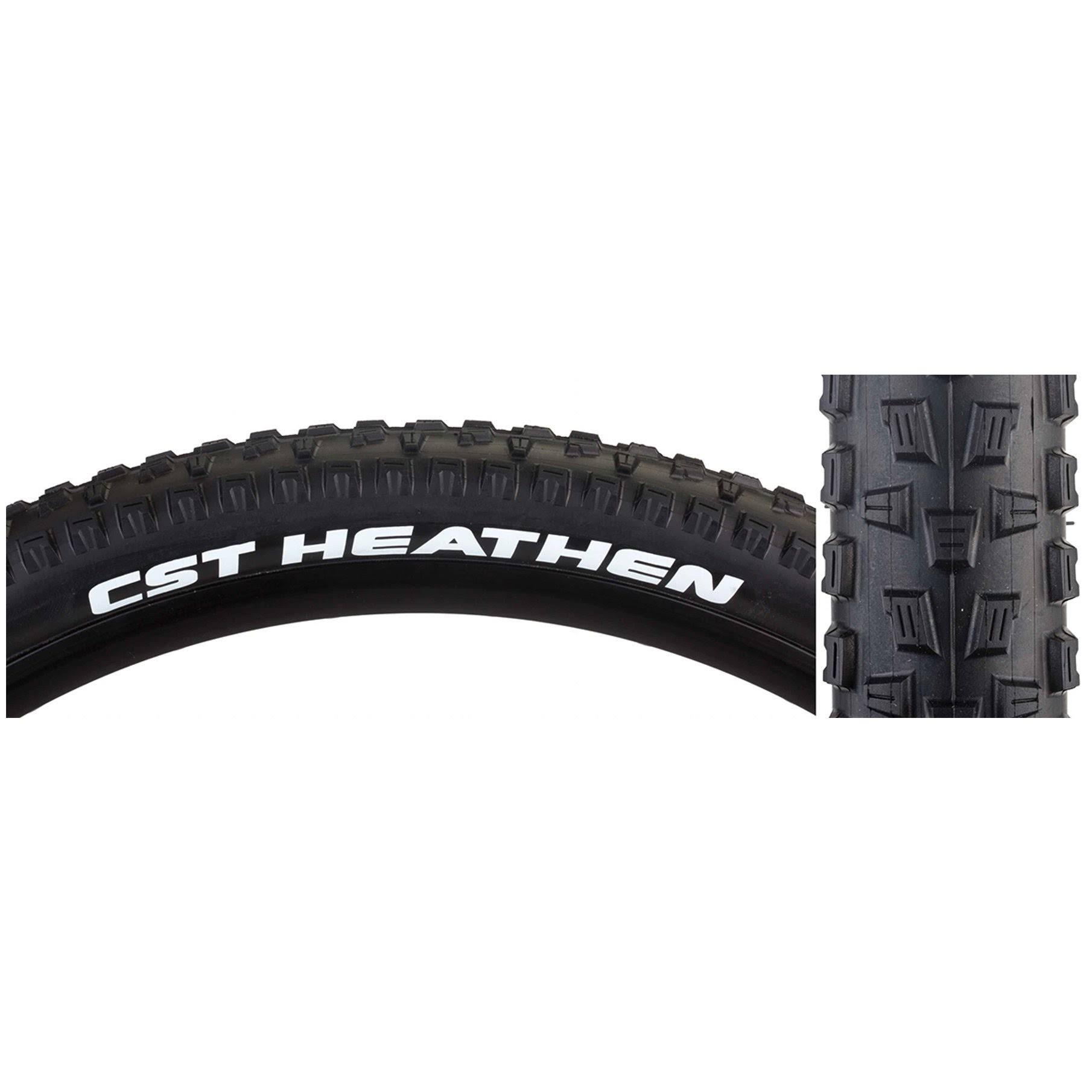 CST Heathen TB85953300 Cstp Tire - 27.5x2.1, Black/Black Wire Sc