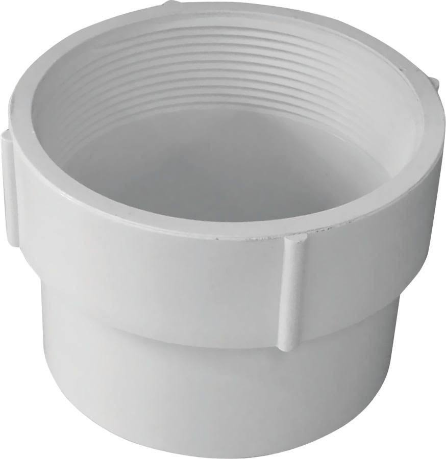 Genova Products Adapter Drain Pvc - White, 4""