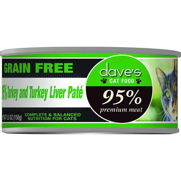 Daves 95% Turkey & Turkey Liver Cat 5oz Each