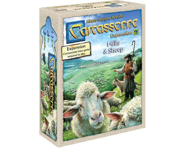 ZMan Carcassonne Expansion 9: Hills & Sheep Board Game