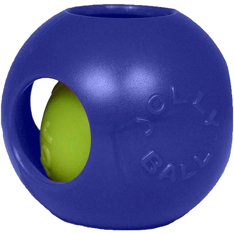 Jolly Pets Teaser Ball Dog Toy - Blue, 4.5""