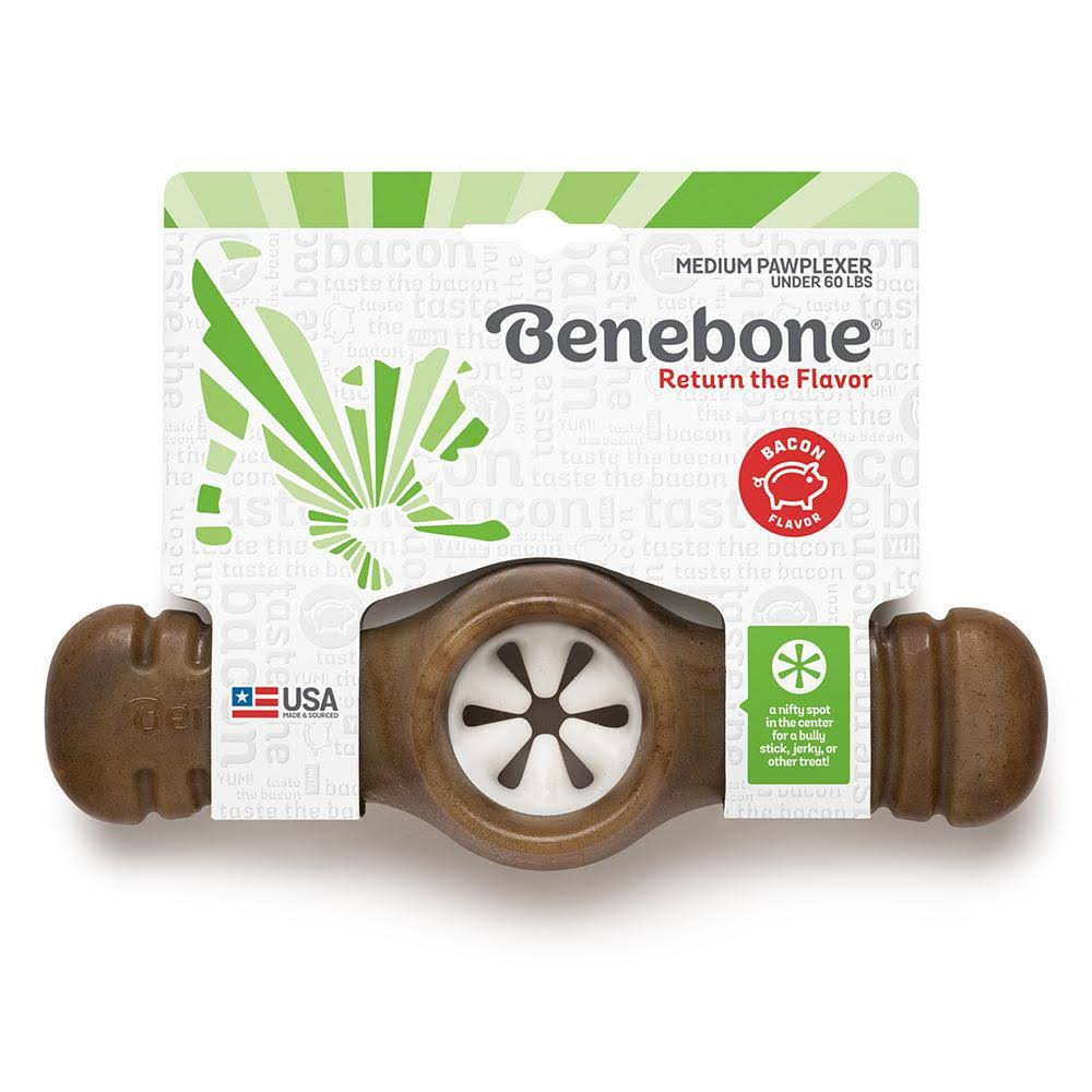 Benebone Wishbone Dog Chew Toy - Bacon Flavored