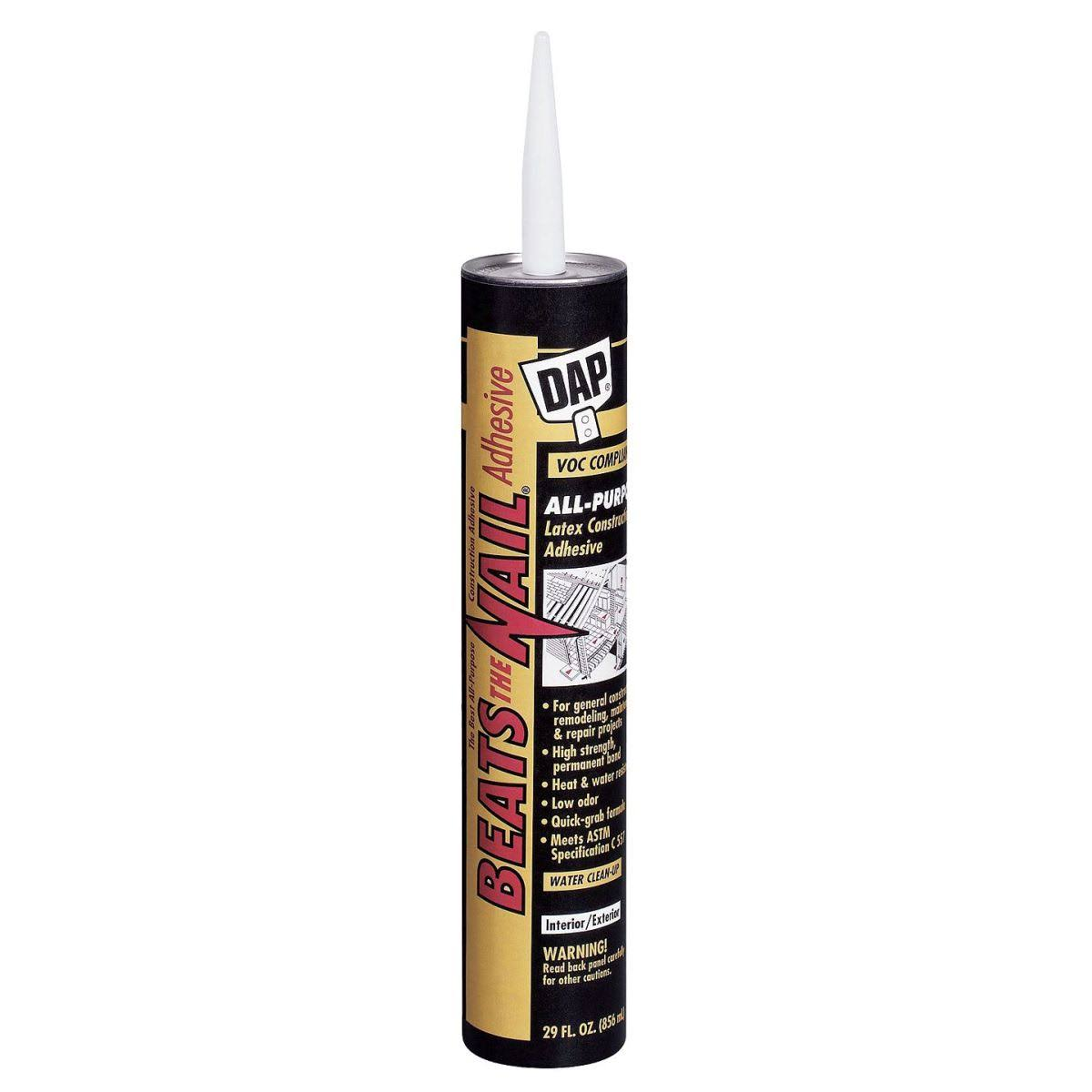 Dap 27058 Latex Construction Adhesive - White, 29oz