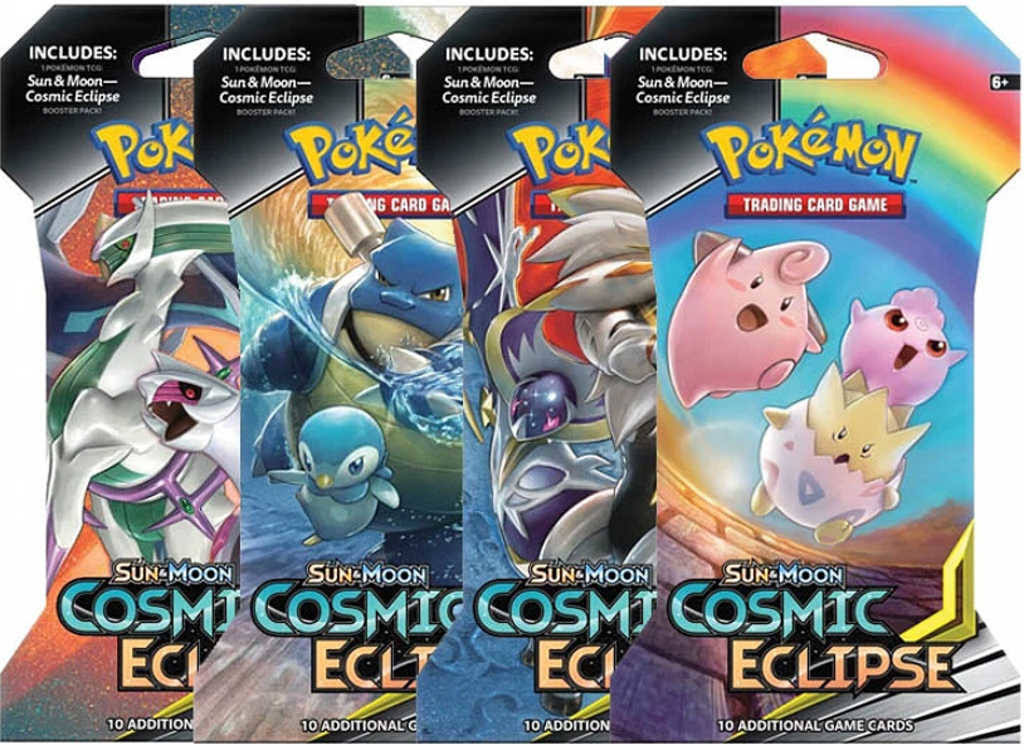 Pokemon Blister Booster Pack (10 Cards) - A - Sun and Moon Cosmic Eclipse