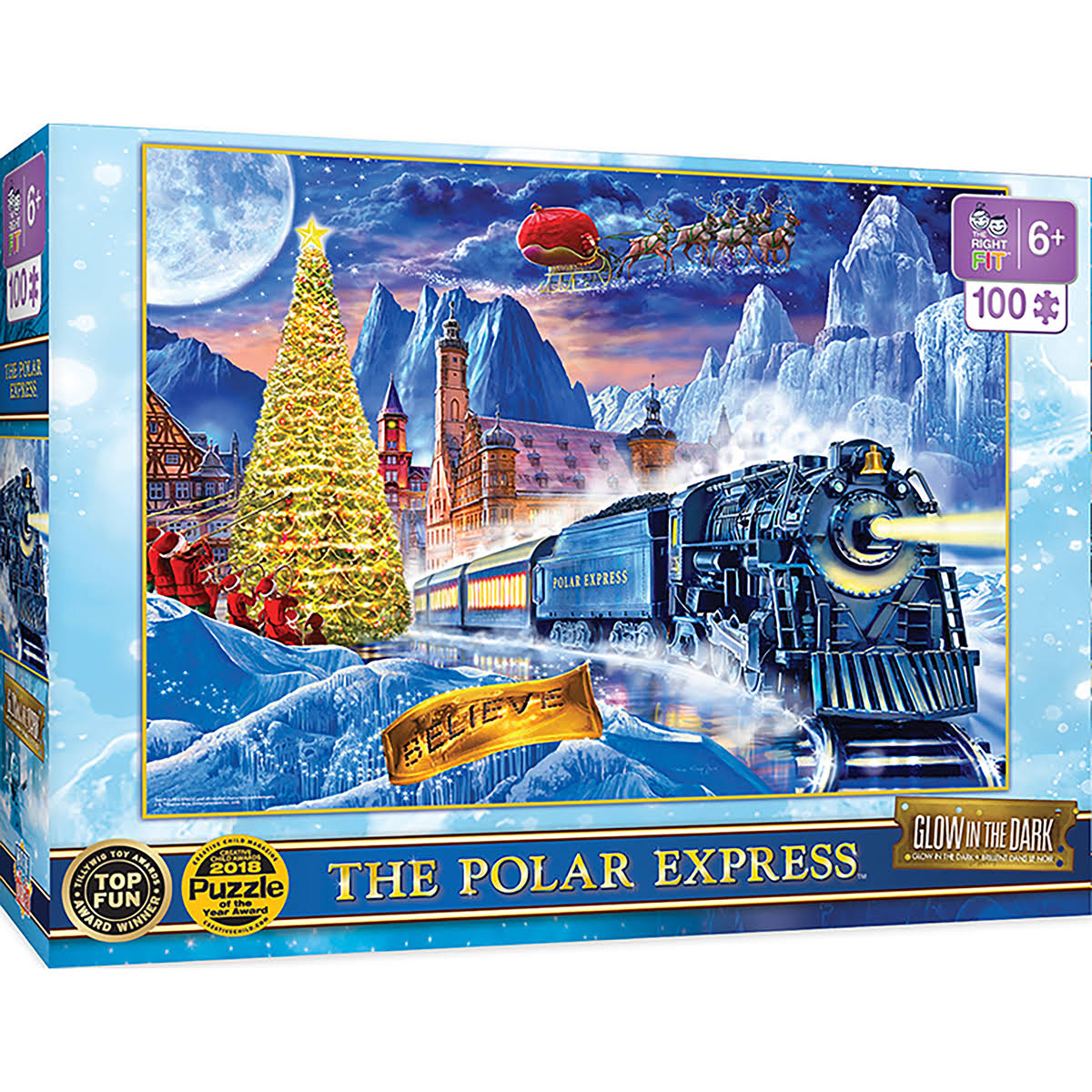 The Polar Express - 100pc Glow in The Dark Puzzle