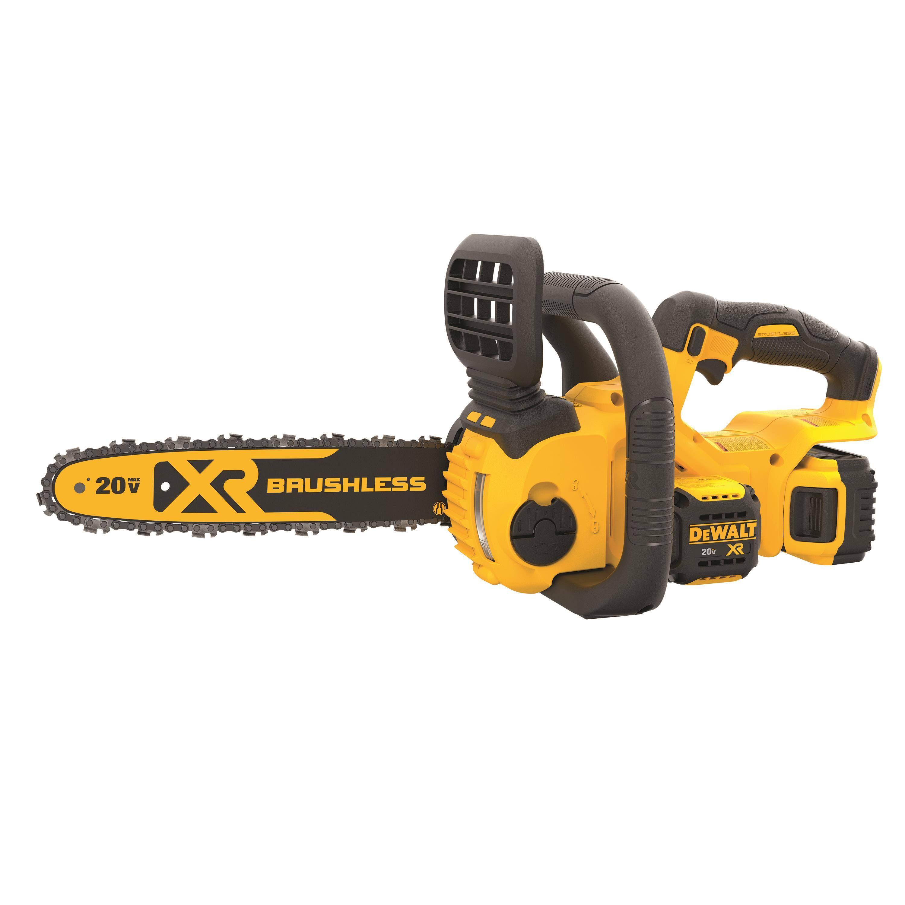 Dewalt MAX XR Lithium-Ion Cordless Brushless Chainsaw, 5.0Ah Battery & Charger Included - 20V, 12""