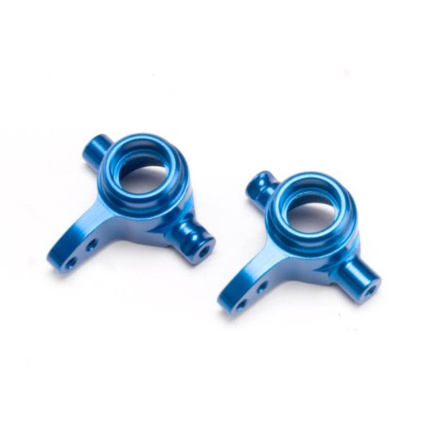 Traxxas Aluminum Left and Right Steering Slash Blocks - Blue, 4 x 4