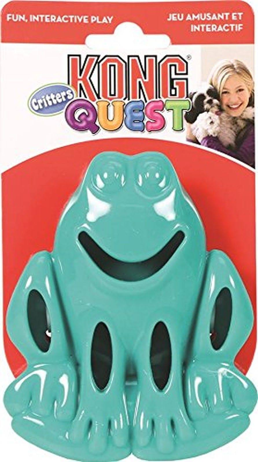 Kong Quest Critter Frog Dog Toy - Green