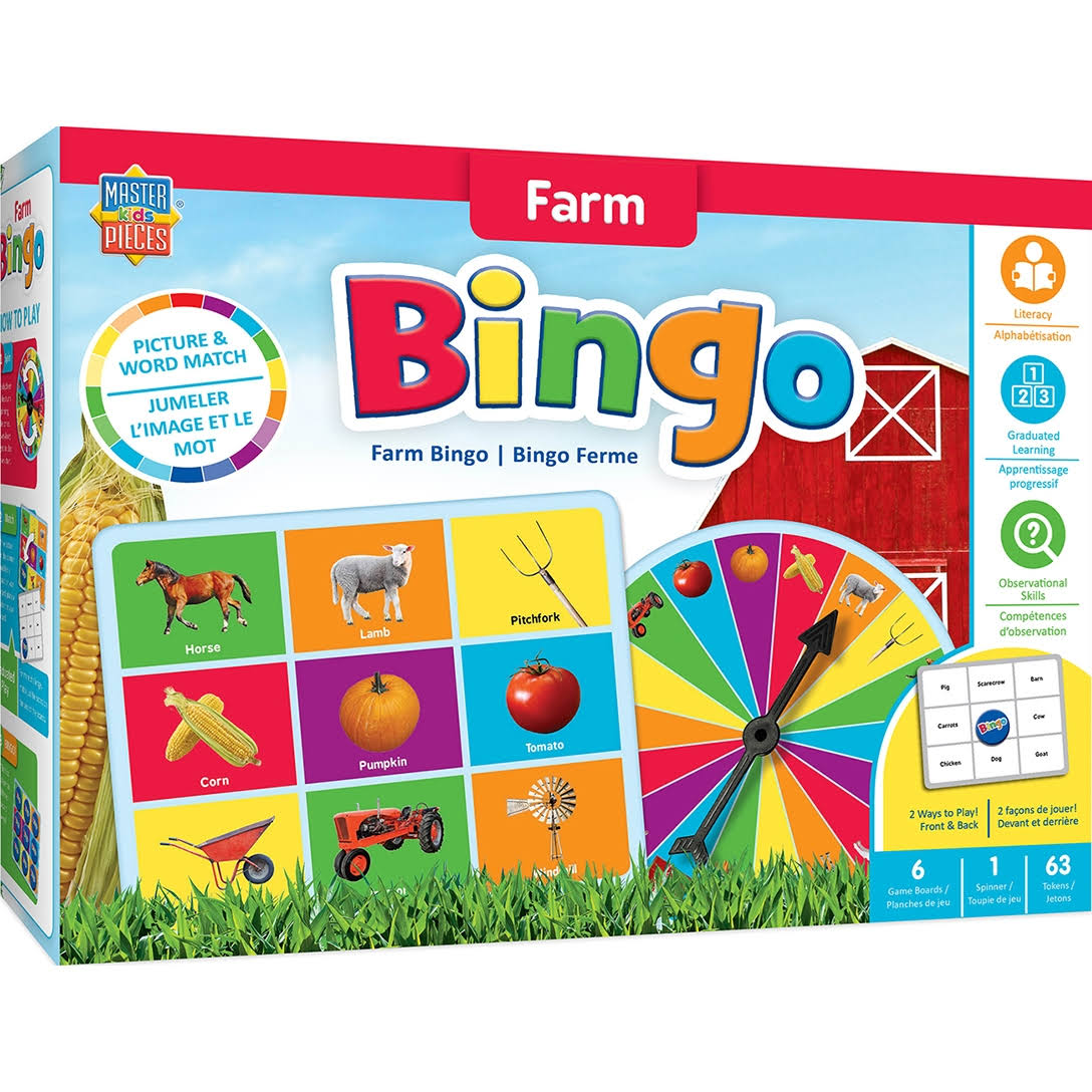 Masterpieces Educational Farm Bingo Game