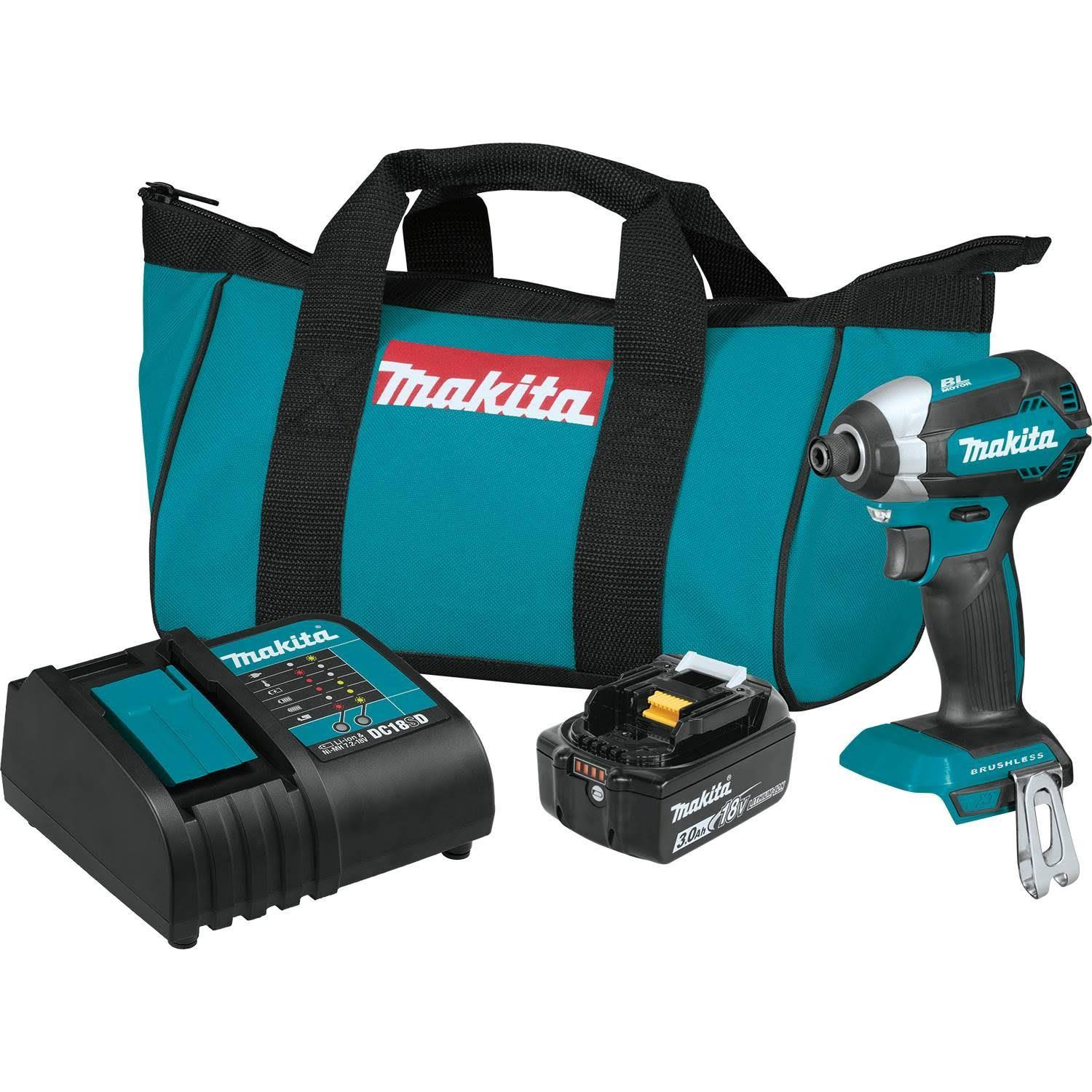 Makita Brushless Cordless Impact Driver Kit - with 18v LXT Lithium-Ion Battery