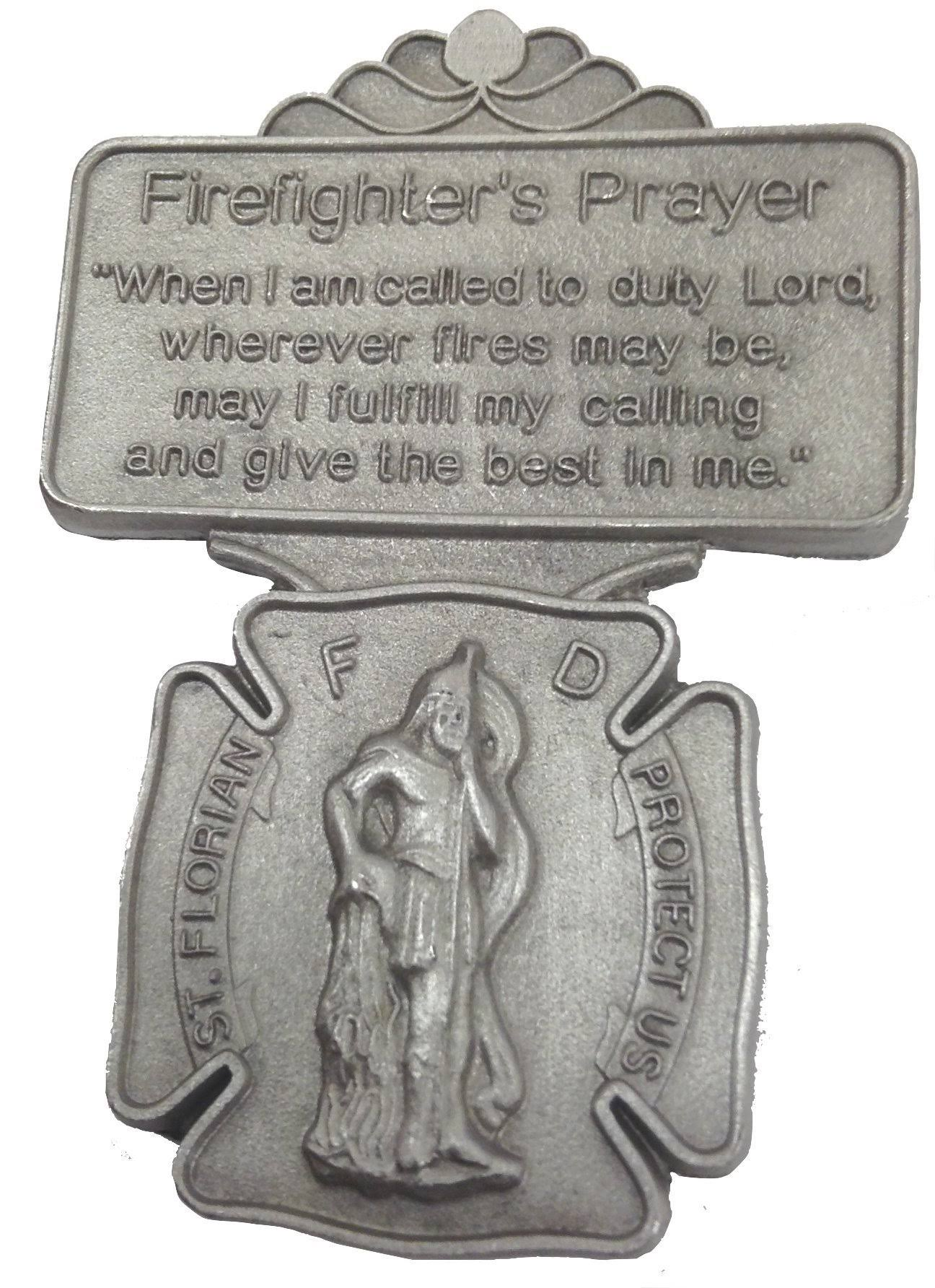 ST Florian Firefighter Prayer Visor Clip