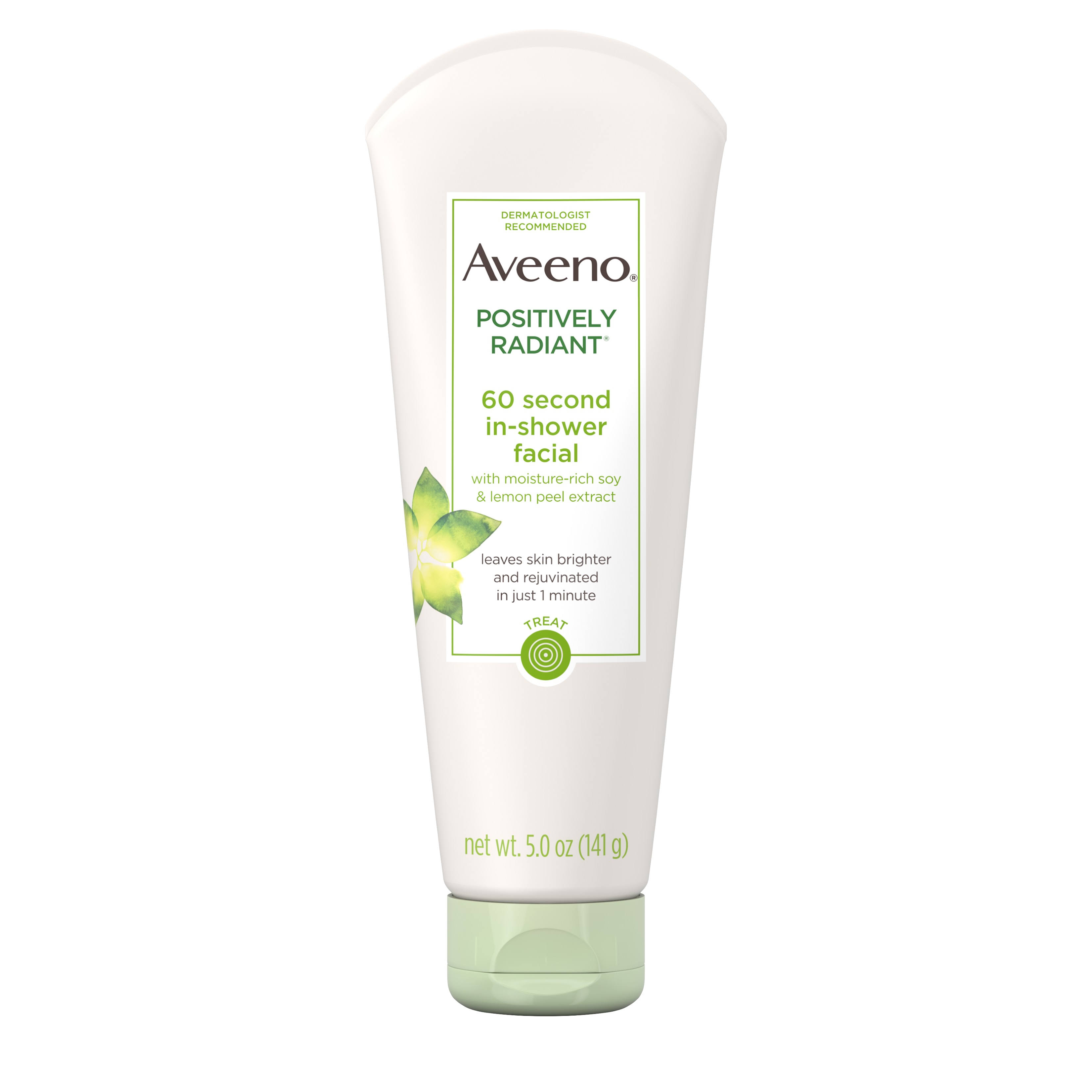 Aveeno Active Naturals Positively Radiant 60 Second In-Shower Facial - 5oz