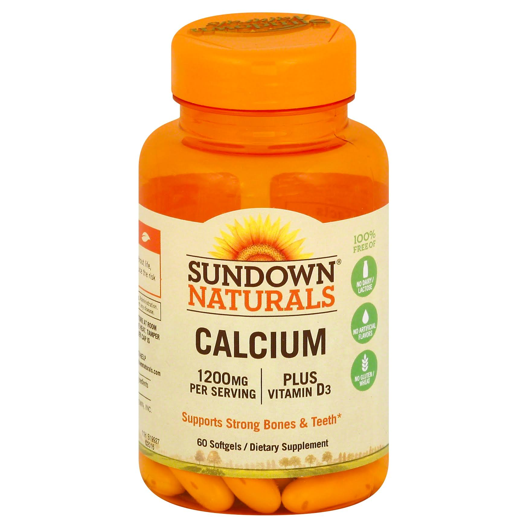 Sundown Naturals Calcium Plus Vitamin D3 Supplement - 1200 mg, 60 Count