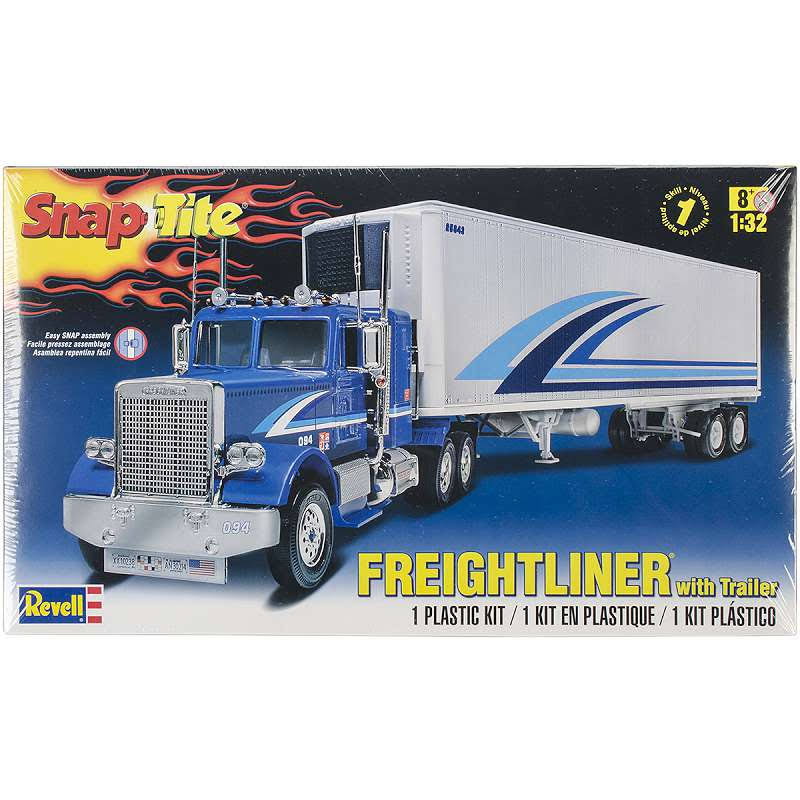 Revell Snap Tite Freightliner with Trailer Plastic Model Car Toy Kit