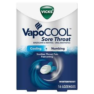Vicks VapoCool Lozenges, Winter Frost - 16 lozenges
