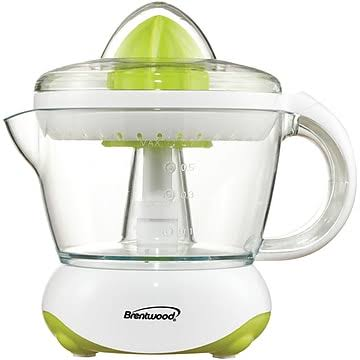 Brentwood Citrus Squeezer Juicer - White, 500ml
