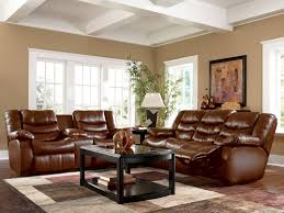 Brown Living Room Decorations by Traditional Style With Brown Leather Living Room Furniture The