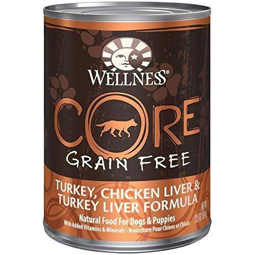 Wellness Core Adult Dog Food - Turkey, Chicken Liver & Turkey Liver, 12.5oz