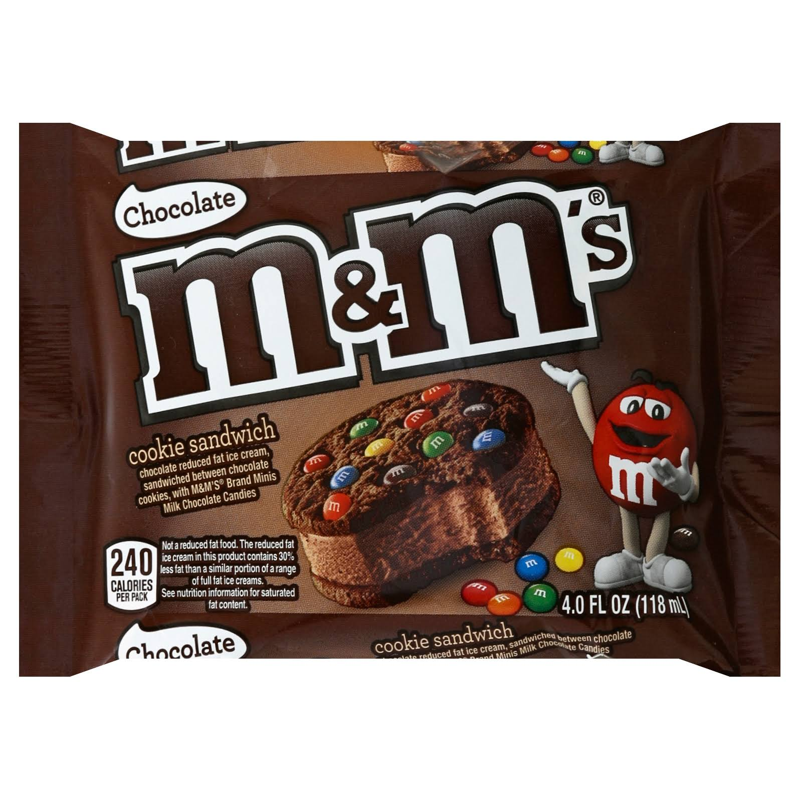 M & M Cookie Sandwich, Chocolate - 4.0 fl oz