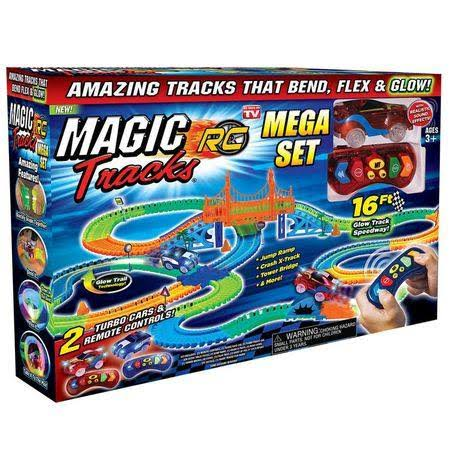 As Seen on TV Magic Tracks Racetrack with Remote Control Race Car Mega Set
