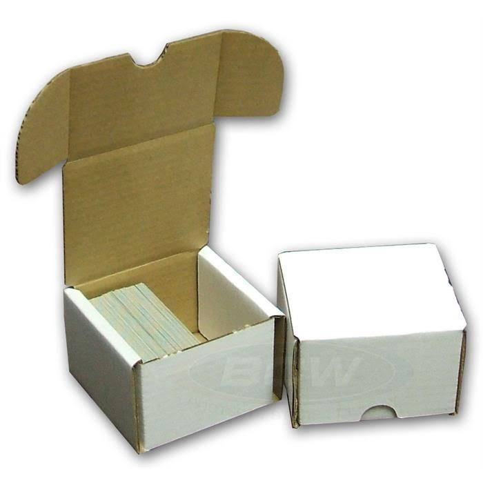 BCW Storage Box 200 Count Quantity of 50 Corrugated Cardboard