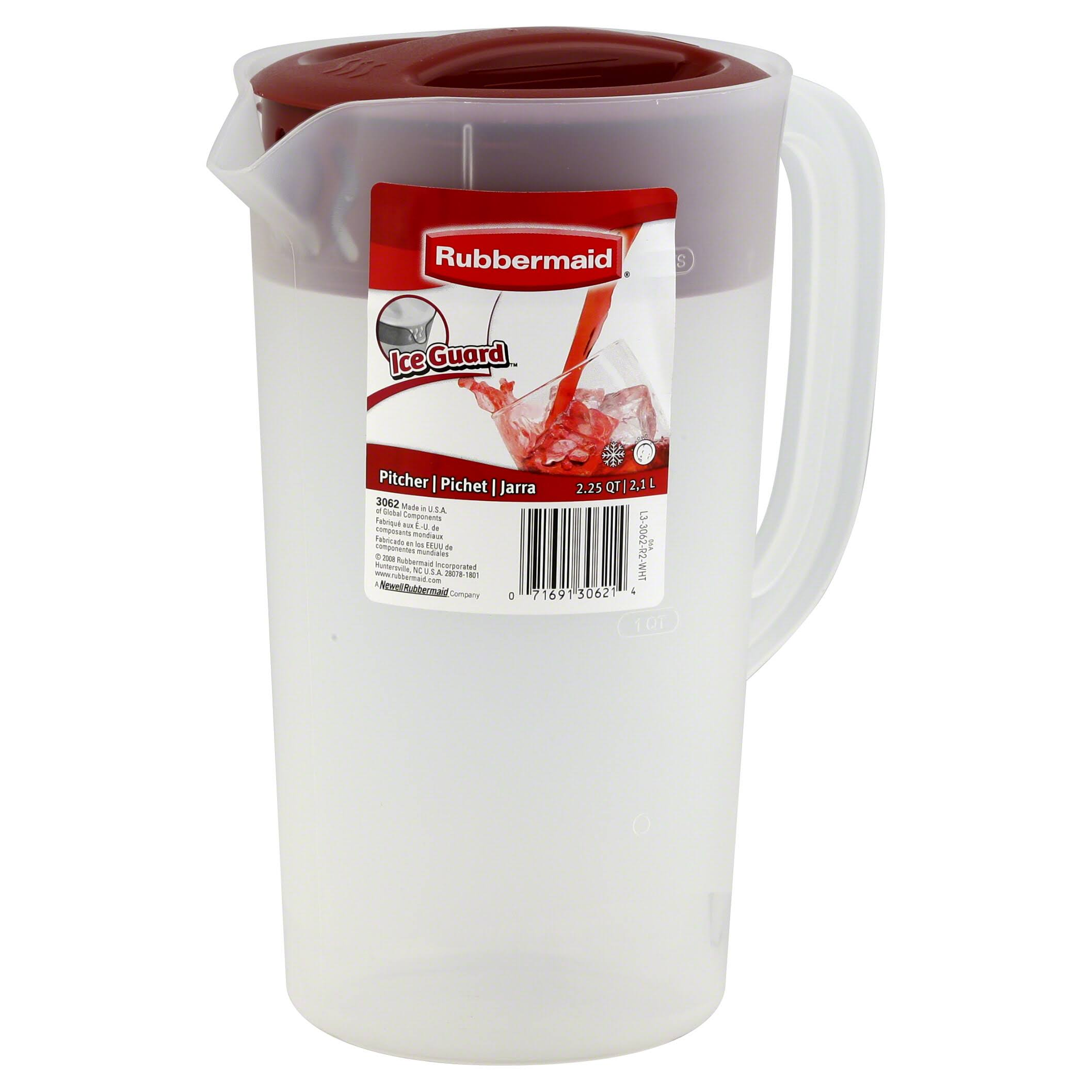 Rubbermaid Covered Pitcher - 2.1l