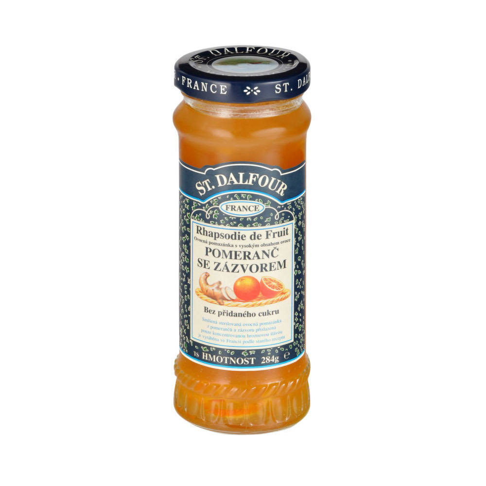 St Dalfour Orange and Ginger High Fruit Content Spread - 284g