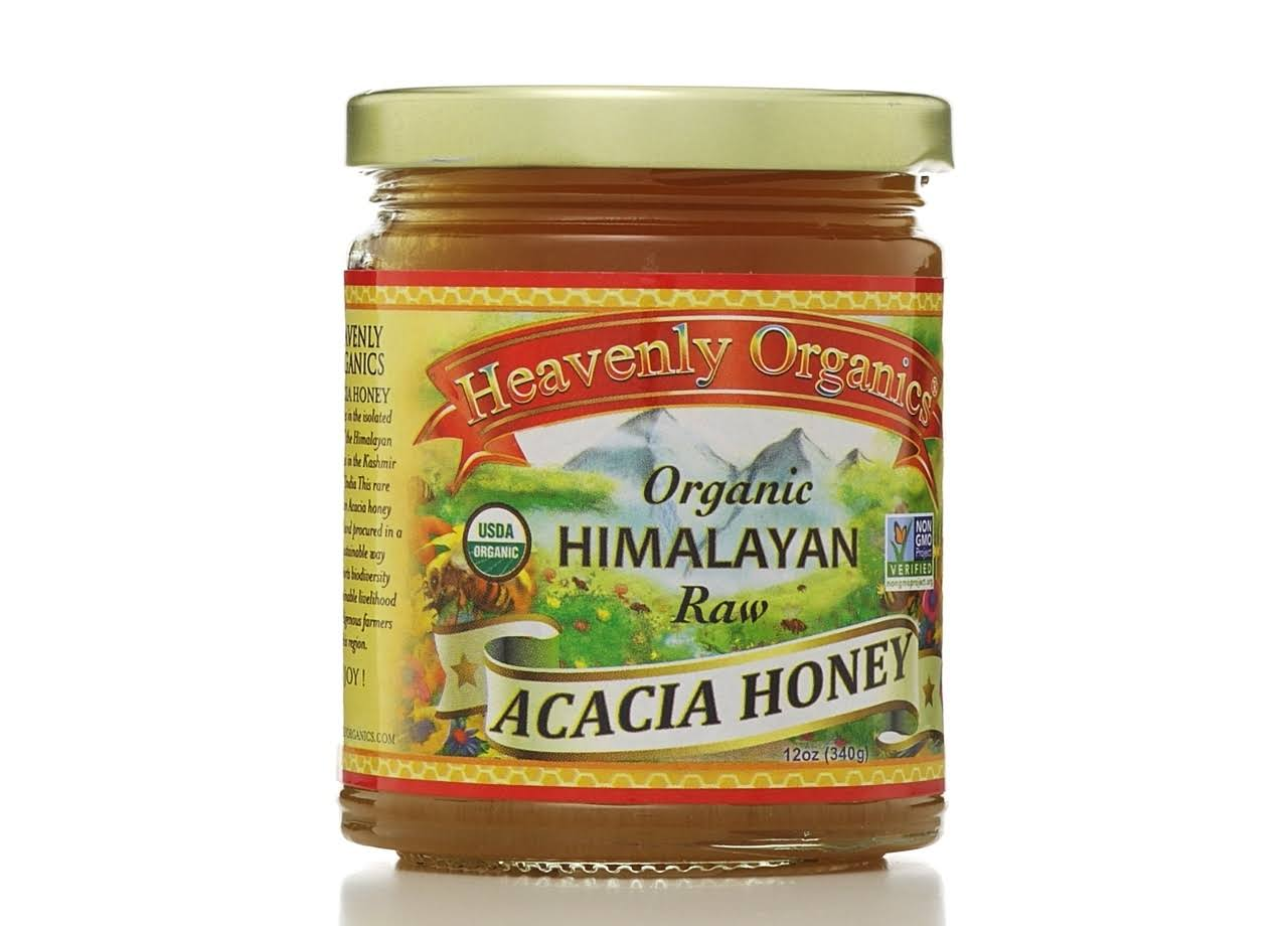 Heavenly Organics 100% Organic Raw Acacia Honey - 12 oz