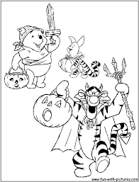 Disney Halloween Coloring Pages by Halloween Pumpkins Coloring Page